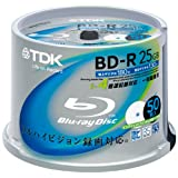 TDK Blu-ray Disc 50 Spindle - 25GB 4X BD-R - Printableby TDK