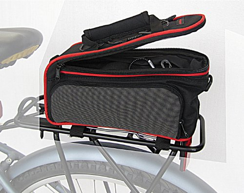 Rear Rack Bag with retractable side panniers , bicycle rack bag by Biria - Picolo