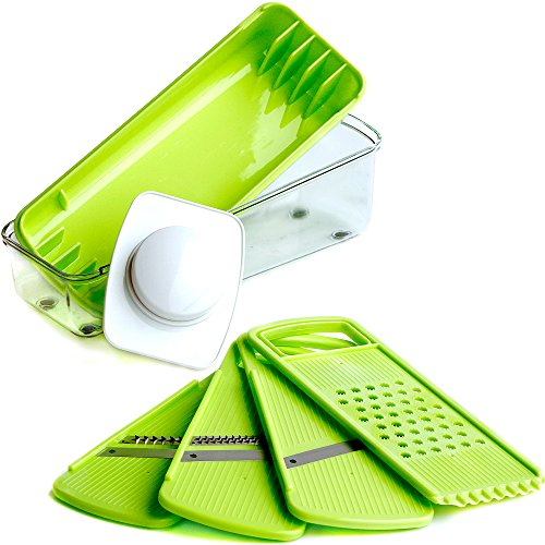 Premium Mandoline Slicer - Vegetable Slicer & Cheese Slicer - Stainless Steel Blades
