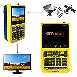 GT MEDIA V8 Finder Satellite Signal Meter Freesat TV DVB-S2 Receiver Sat Detector, HD 1080P Free to Air FTA 3.5