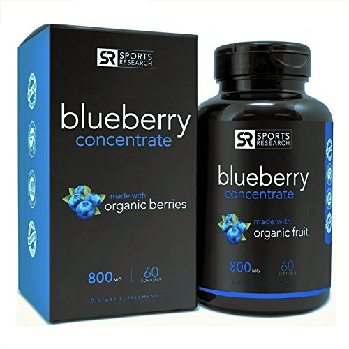 Wild Blueberry Concentrate – Made from Organic Berries | GMO & Gluten Free – Packed with Antioxidants and Phytonutrients | 60 Liquid Softgels – 2 Month Supply!