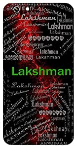 Lakshman (Brother Of Lord Rama, Prosperous) Name & Sign Printed All over customize & Personalized!! Protective back cover for your Smart Phone : Samsung Galaxy A-5