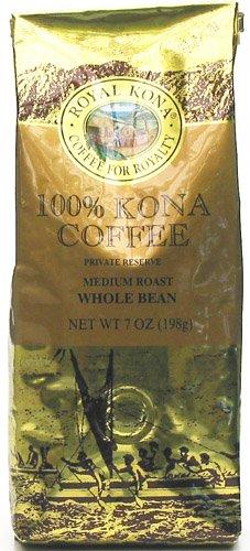 Royal Kona Coffee 100% Kona Coffee Private Reserve Whole Bean 7 Oz Bag (Pack Of 12)