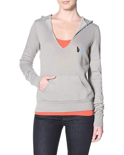 Day By Day Women's Heart & Soul Pullover Hoodie  - Concrete Grey