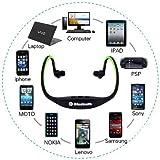 BestFire® Brand New Sport Wireless waterproof Stereo Bluetooth Headphones Handsfree Music Earbud headset for Smartphone for iphone 4 4S 5 5G ipad 1 2 3 4 ipad mini (Black)
