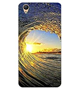 ColourCraft Beautiful Waves Design Back Case Cover for OPPO R9