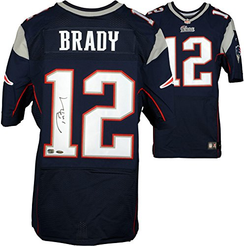 Tom Brady New England Patriots Autographed Navy Nike Elite Jersey - Fanatics Authentic Certified - Autographed NFL Jerseys детские бутсы nike бутсы nike jr phantom 3 elite df fg ah7292 081