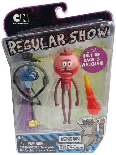 "Regular Show Benson with Walkman and Rage Blast 3.5"" Action Figure"