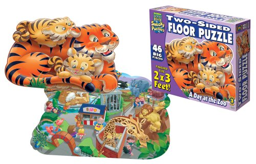 Cheap Fun Patch Sneaky 2 Sided Floor Puzzle A Day at the Zoo (B000NBA4XY)