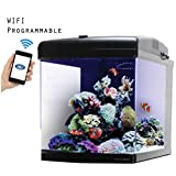 JBJ 28 Gallon Nano Cube WiFi LED Aquarium with Stand