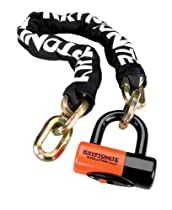 "Kryptonite 999515 Black 12mm x 39"" (1210) New York Chain and Evolution Series-4 Orange 14mm Disc Lock"