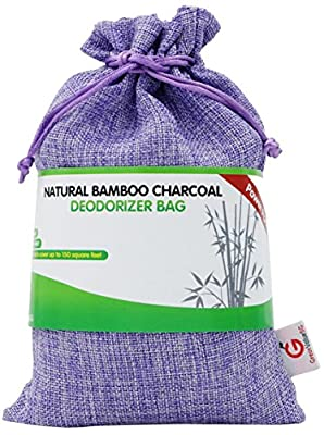 Great Value SG Natural Bamboo Charcoal Deodorizer Bag Power Pack - Most Effective AIR Purifiers for Home, Allergies & Smokers. Portable Odor Eliminator, Car Air Freshener