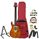 GoDpsMusic CM4VS30 PRS SE 30th Anniversary Custom 24 Vintage Sunburst Electric Guitar with Accessories and Gig Bag
