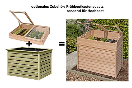 hochbeet kr uterbeet aus l rchenholz 125 x 85 x 80 cm von gartenpirat europaletten kaufen. Black Bedroom Furniture Sets. Home Design Ideas