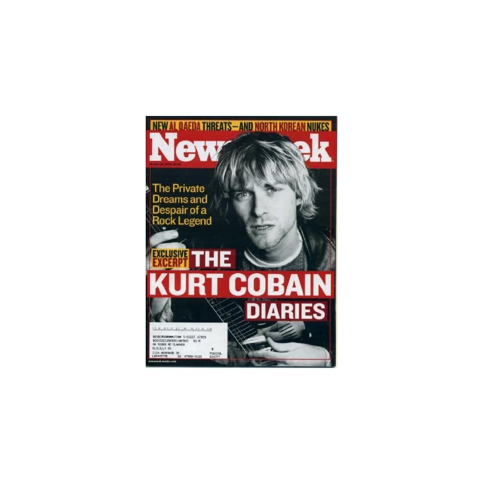 Newsweek October 28, 2002 The Kurt Cobain Diaries (Nirvana)