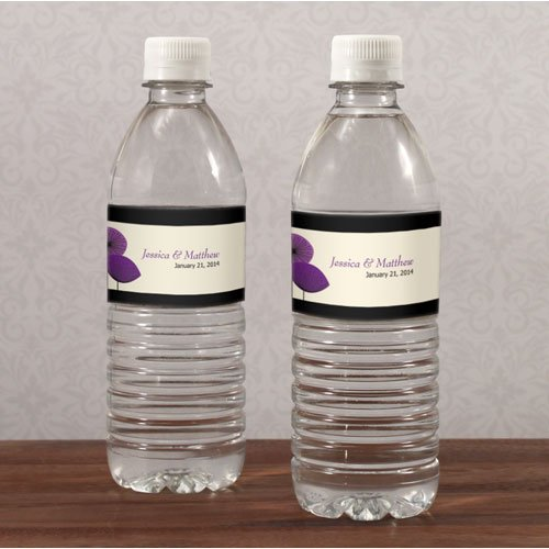 20PC 1046-13WS Romantic Elegance Water Bottle Label Oasis Blue,Watermelon,Harves