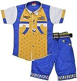 Kids Era Baby Boys' Half Sleeve Shirt And Capri Set (3119royal, Royal, )