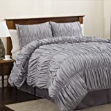 Lush Decor Venetian 4-Piece Comforter Set, Queen, Silver thumbnail