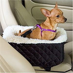 Console Lookout Dog Car Quilt Booster Seat - Small Black