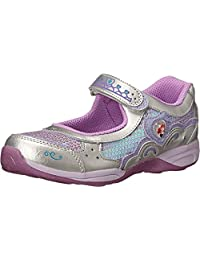 Stride Rite Girl's Disney? Wish Lights Ariel Mary Jane (Little Kid) Silver/Lilac Sneaker 2 Little Kid M