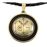 Wealth Attraction Seal of Solomon Necklace, Leather, Adjustable