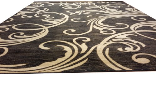 10x13 Contemporary Modern Abstract Transitional Black Beige Area Rug 10ft 13ft Free Ship