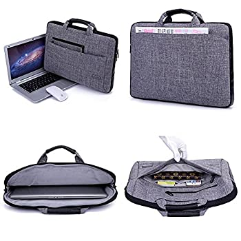 Brinch Multi-functional Suit Fabric Portable Laptop Sleeve Case Bag for 15.6-Inch Laptop 2