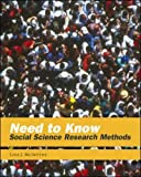Need to Know: Social Science Research Methods (0767413172) by Lisa McIntyre