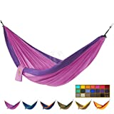 Lightweight Parachute Nylon DOUBLE Hammock- Purple and Pink