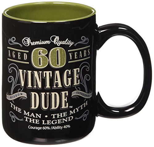 Laid Back CF11016 60th BD Vintage Dude Coffee Mug, 14-Ounce