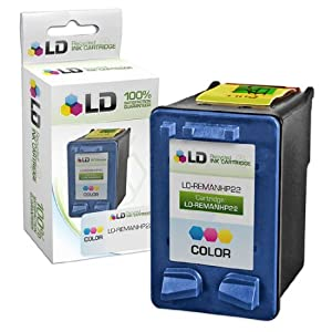 LD © Remanufactured Replacement Ink Cartridge for Hewlett Packard C9352AN (HP 22) Tri-Color