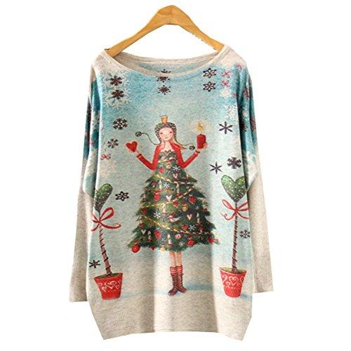 Long Batwing Sleeve Knitted Women Warm Sweater Jumper Pullover (BATW510)