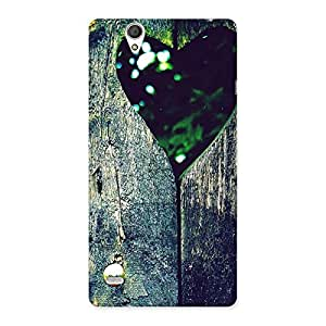 Cute Wooden Vintage Print Back Case Cover for Sony Xperia C4