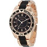 Reloj XOXO XO5468 para mujer en tono oro rosa y negro.