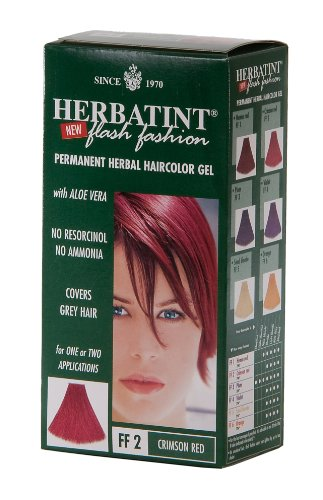 Herbatint Flash Fashion Hair Color, Crimson Red, 4.56 Fluid Ounce