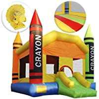 Cloud 9 The Crayon Bounce House - Large Inflatable Bouncing Jumper with Slide and Air Blower by Cloud 9 Bouncers
