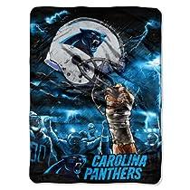 NFL Carolina Panthers 60-Inch-by-80-Inch Plush Rachel Blanket, Sky Helmet Design