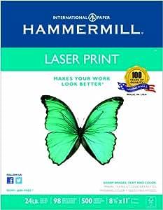 Hammermill Laser Print, 24lb, (8.5 x 11) inch, 98 Bright, 500 Sheets/1 Ream (104604)