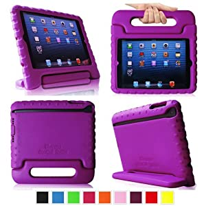 Fintie Casebot Kiddie Case for iPad mini 7.9 inch Tablet Light Weight Shock Proof Convertible Handle Stand Kids Friendly - Purple