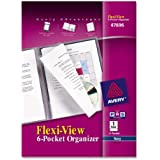 Avery Flexi-View Six-Pocket Organizer, Navy Blue, 1 Organizer (47696)