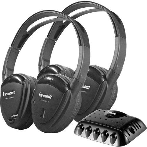 2 Swivel Ear Pad Single Channel Ir Wireless Headphones With Transmitter