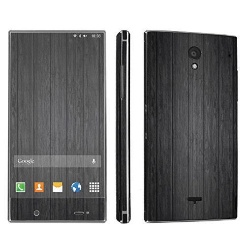 Sharp Aquos Crystal Phone Skin - [SkinGuardz] Full Body Scratch Proof Vinyl Decal Sticker with [WallPaper] - [Black Wood] for Sharp Aquos Crystal (Sharp Aquos Crystal Wood compare prices)