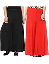 Women's BLACK-RED Palazzo Pant