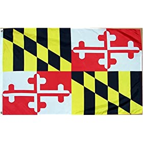 Maryland State Flag 3x5 3 x 5 Brand NEW DOUBLE STITCHED