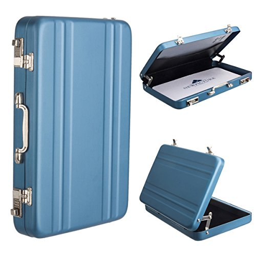 [Fujifilm Instax Mini Portable Photo/Card Case] WoodminCreative Comprehensive Premium Aviation Aluminum Case for Fuji Instant Mini Films/ Business Cards/ ID Cards (Blue) (Mini Mini Fridge Teal compare prices)