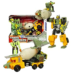 Hasbro Year 2008 Transformers Universe Voyager Class 8 Inch Tall Robot Action Figure - Decepticon HEAVY LOAD with Drill Bit Mini-Con, Giant Torpedo Launcher and Activation Key (Vehicle Mode : Mixer Truck)