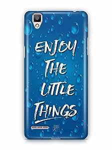 YuBingo Enjoy The Little Things Designer Mobile Case Back Cover for Oppo F1