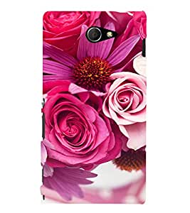 EPICCASE Pink roses Mobile Back Case Cover For Sony Xperia M2 (Designer Case)