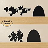 """BATTOO Mickey and Minnie's Mouse House Wall Decal(6.5""""X 2.5"""",black)"""