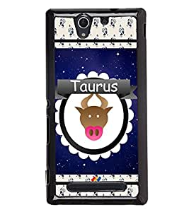 Printvisa 2D Printed Sunsign Taurus Designer back case cover for Sony Xperia C3 - D4427